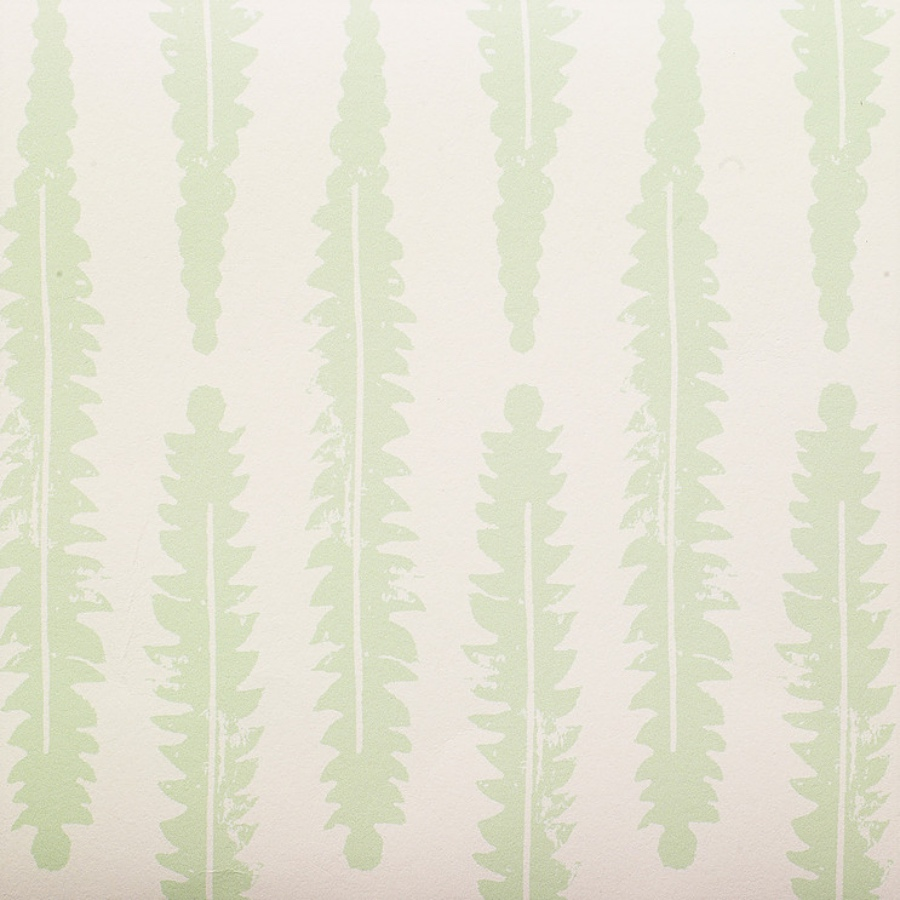 Molly Mahon Fern sage wallpaper to hang pictures on