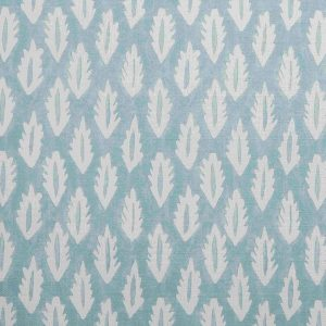 Molly Mahon Forest Duck Egg hand blocked fabric