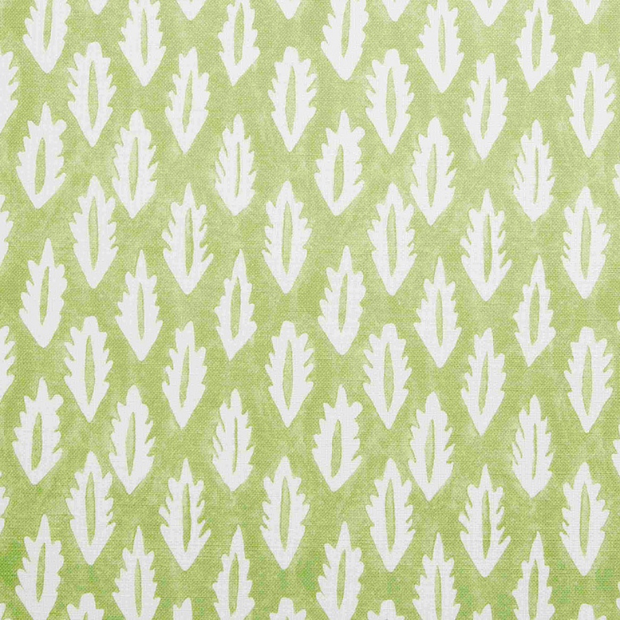 Molly Mahon Forest Green hand blocked fabric