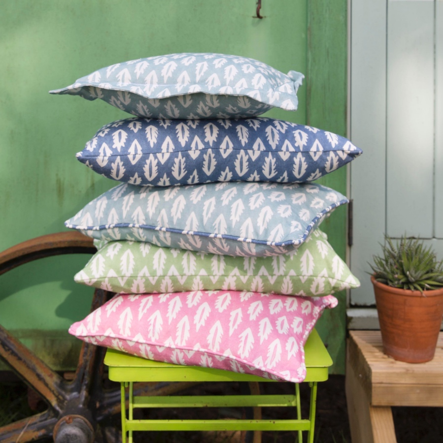 Molly Mahon Forest fabric cushions