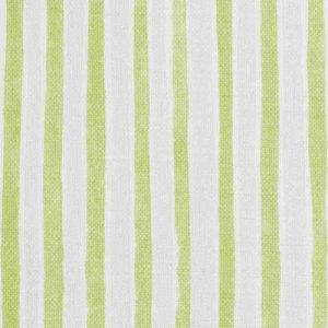 Molly Mahon Green Stripe printed linen fabric curtains blinds upholstery
