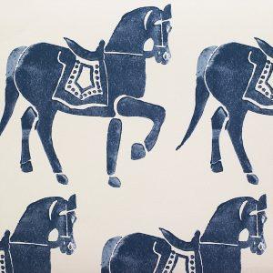 Molly Mahon Marwari Horse Deep Blue wallpaper
