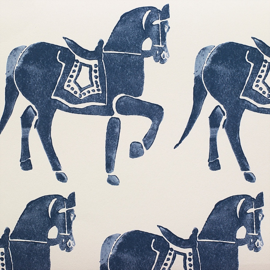 Molly Mahon Marwari Horse Deep Blue wallpaper