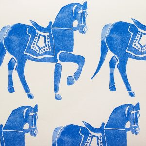 Molly Mahon Marwari Horse Denim wallpaper blue horses