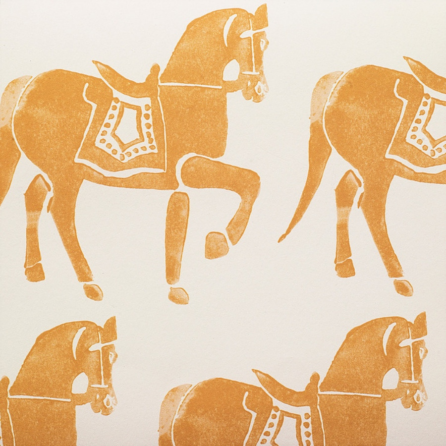 Molly Mahon Marwari Horse Gold ochre wallpaper