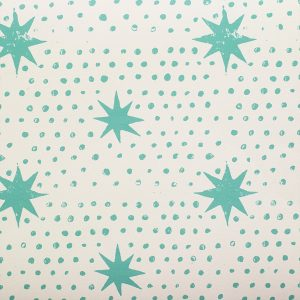 Molly Mahon Spot & Star Pea Green bathroom wallpaper