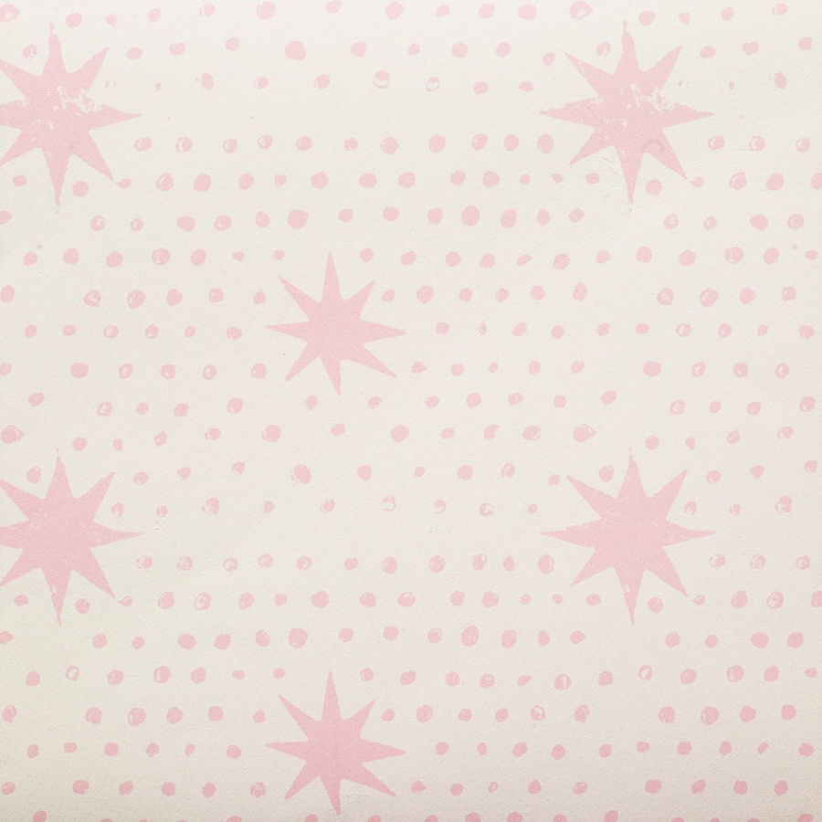 Molly Mahon Spot & Star Pink childrens room wallpaper