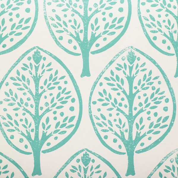 Molly Mahon Tree Pea Green wallpaper