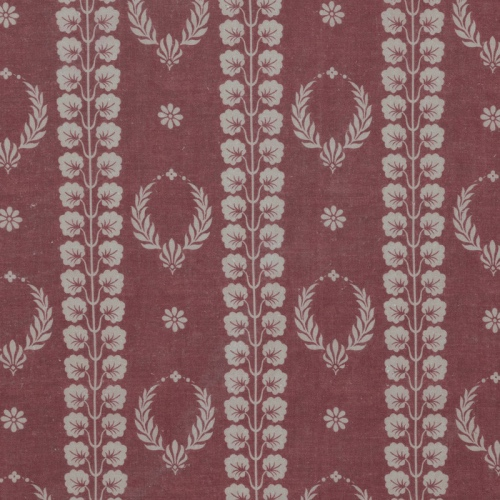 Inchyra Couronne Damson Pink Aged vintage linen