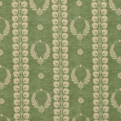 Inchyra Couronne Fern Green Aged vintage linen