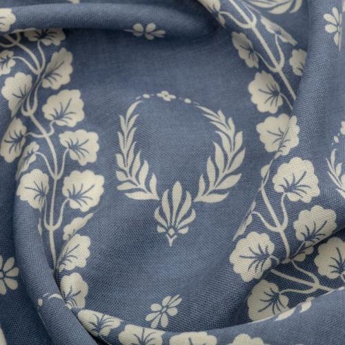 Inchyra Couronne Marine Blue Aged vintage linen