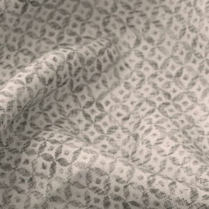 Inchyra Dedalo Charcoal small print grey linen