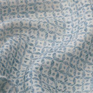Inchyra Dedalo Indigo vintage style linen