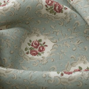 Inchyra Posy Duck Egg aged linen vintage floral