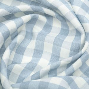 Inchyra Vintage Check Linen Old Blue