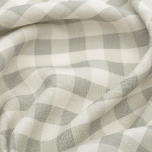 Inchyra Vintage Check Linen Smoke Grey