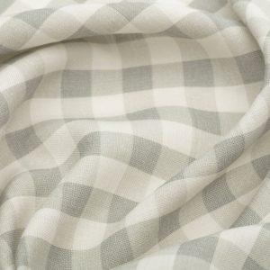 Inchyra Vintage Check Linen Smoke Grey