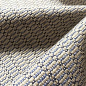 Ian Mankin Goucester Iris blue weave heavy fabric