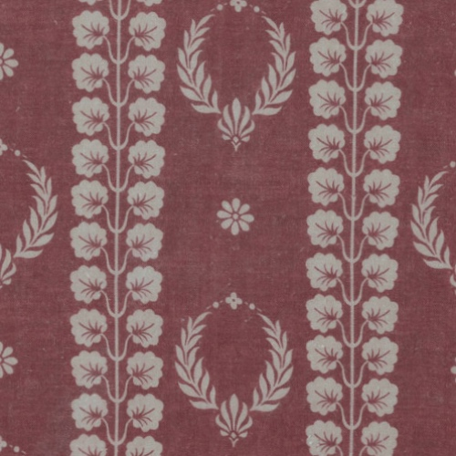 Inchyra Couronne French style antique Linen fabric burgundy red