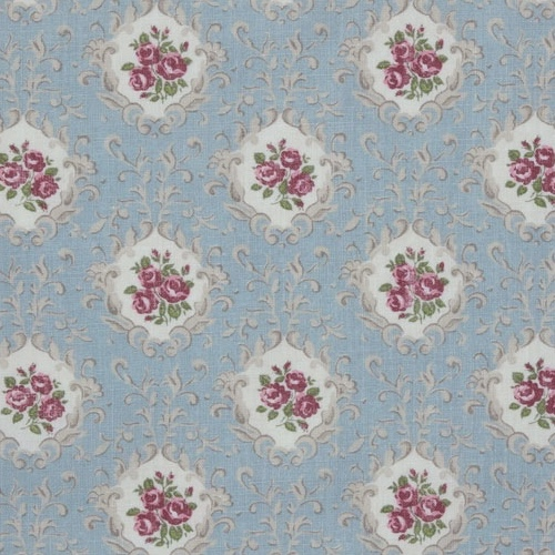 Inchyra Posy Linen Duck Egg english country house style fabric