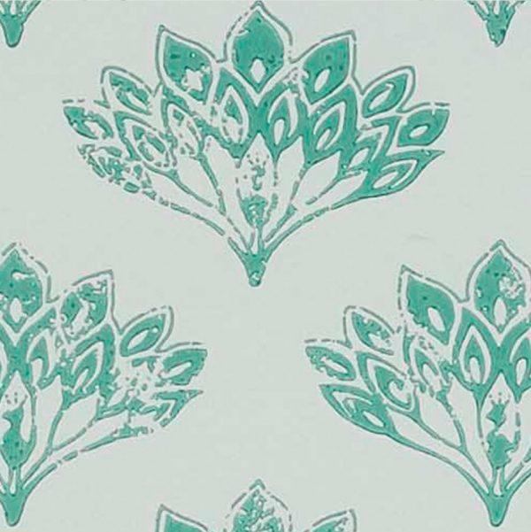 Baneby Gates Peacock Teal wallpaper