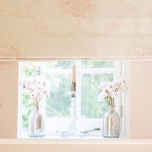 Kate Forman Sophia Pink Roman Blind