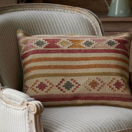 Susie Watson Designs large kilim cushion saffron olive