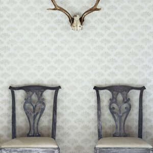 Barneby Gates Wallpaper Peacock Grey