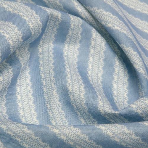 Inchyra Torchon Stripe Linen Cornflower