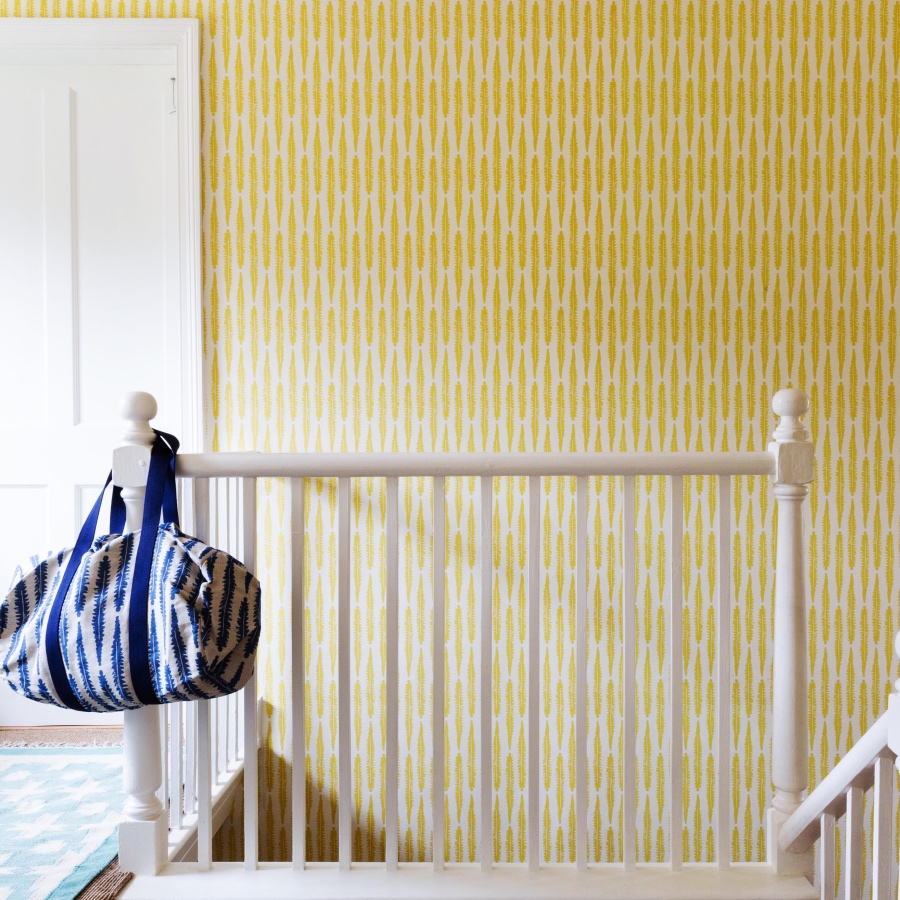 Molly Mahon Fern Wallpaper mustard