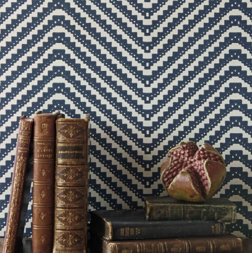 Barneby Gates Chevron ink wallpaper
