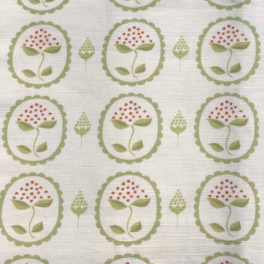 Anna Jeffreys Bud green linen fabric