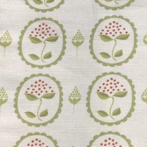 Anna Jeffreys Bud green linen fabric