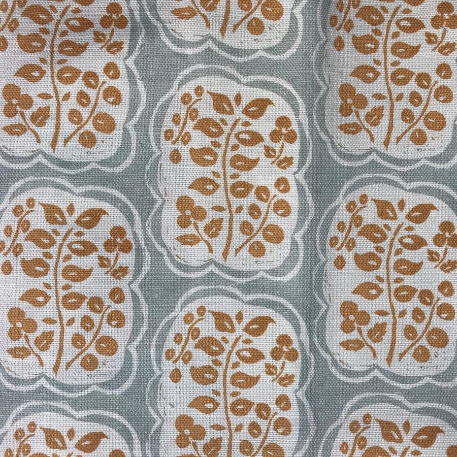 Anna Jeffreys Helene Ochre Blue fabric