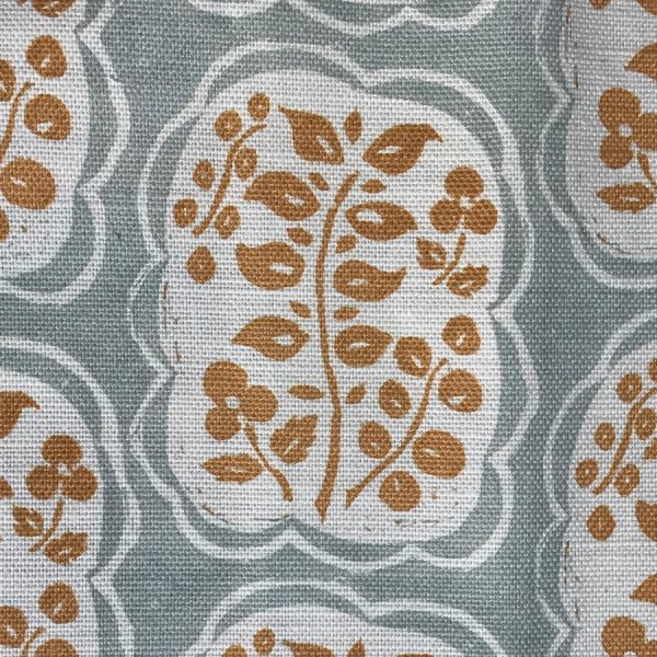 Anna Jeffreys Helene fabric Ochre Blue