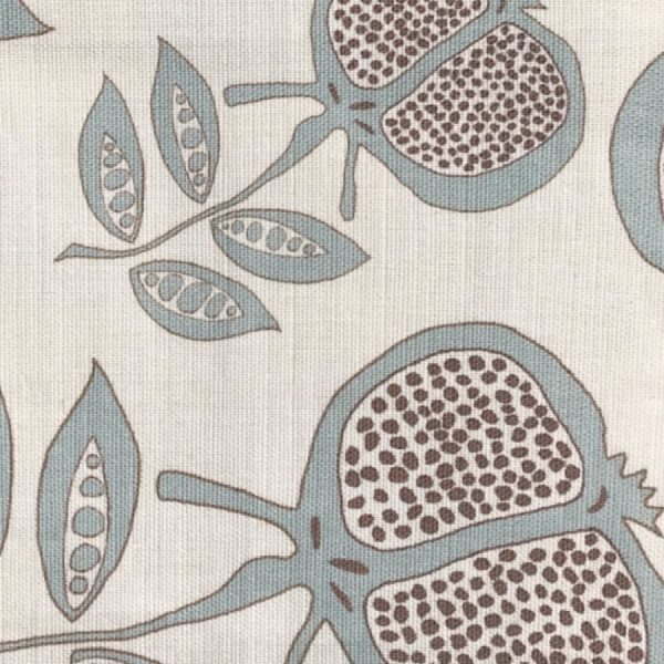 Anna Jeffreys Pomegranate Blue fabric