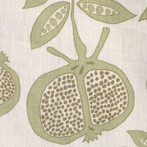 Anna Jeffreys Pomegranate Green fabric