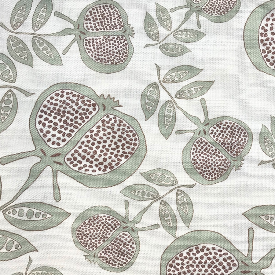 Anna Jeffreys Pomegranate Grey fabric