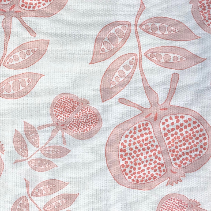 Anna Jeffreys Pomegranate Pink Red fabric