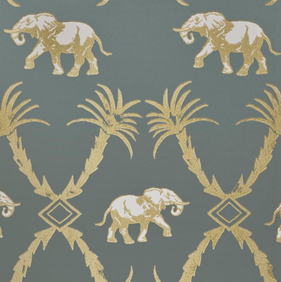 Elephant Palm Wallpaper By Barneby Gates Grey