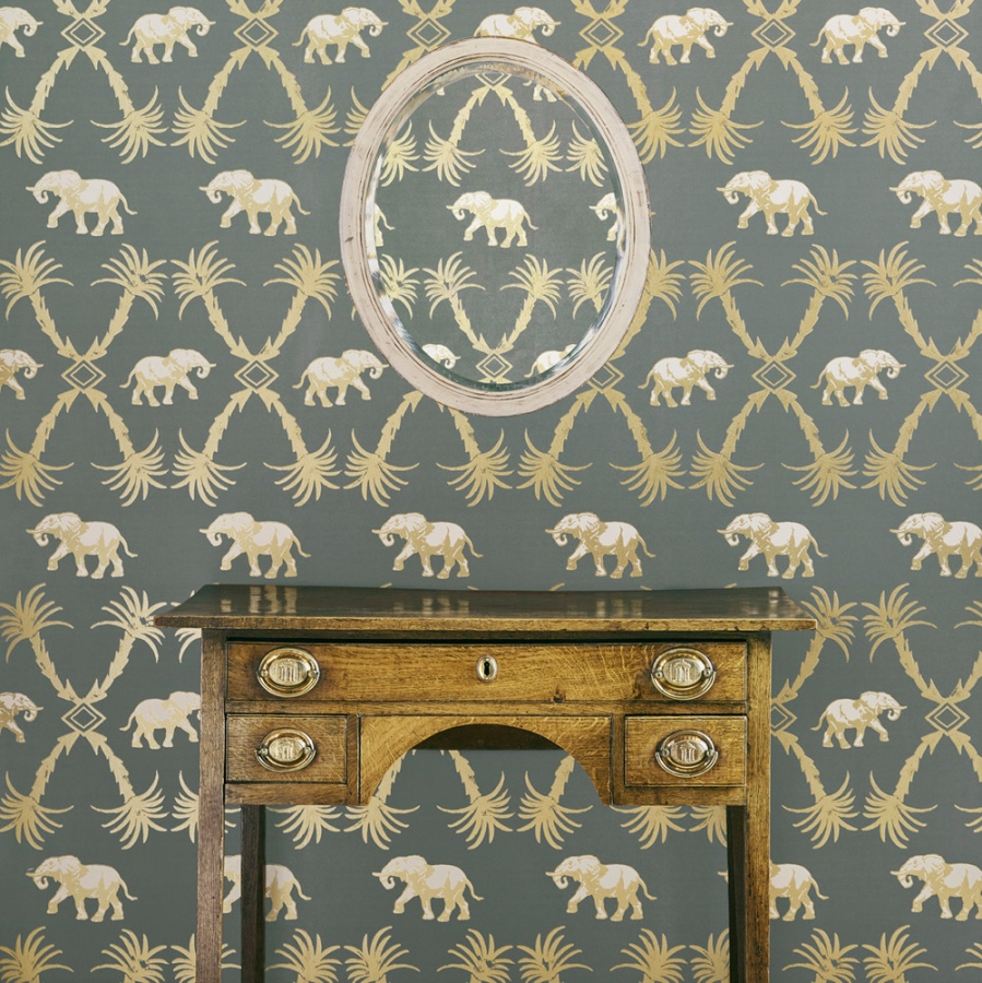 elephant wallpaper barneby gates grey