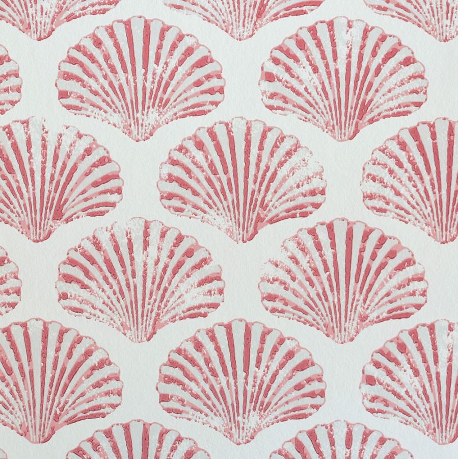 Barneby Gates Scallop Shell wallpaper red
