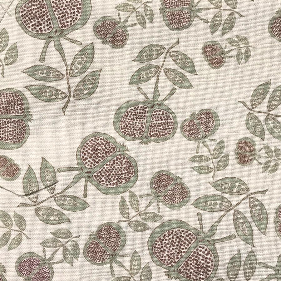 Anna Jeffreys Pomegranate small grey linen fabric