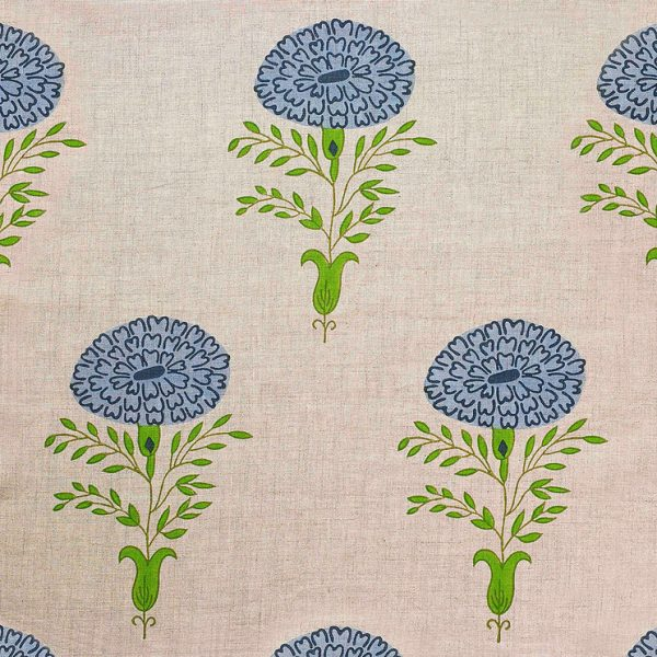 Molly Mahon Marigold Blue fabric