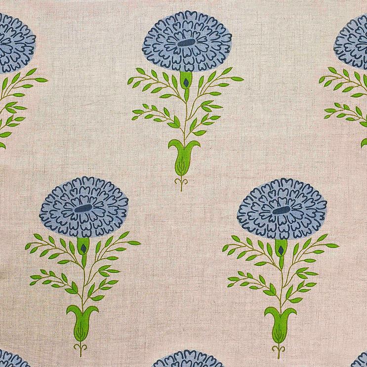 Molly Mahon Marigold Blue fabric