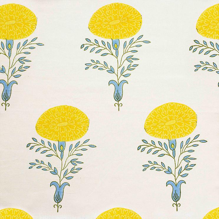 Molly Mahon Marigold Yellow linen