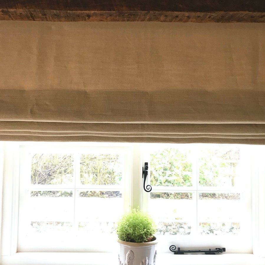 PatternSpy honey linen roman blind