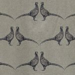 Barneby Gates Pheasant fabric charcoal grey