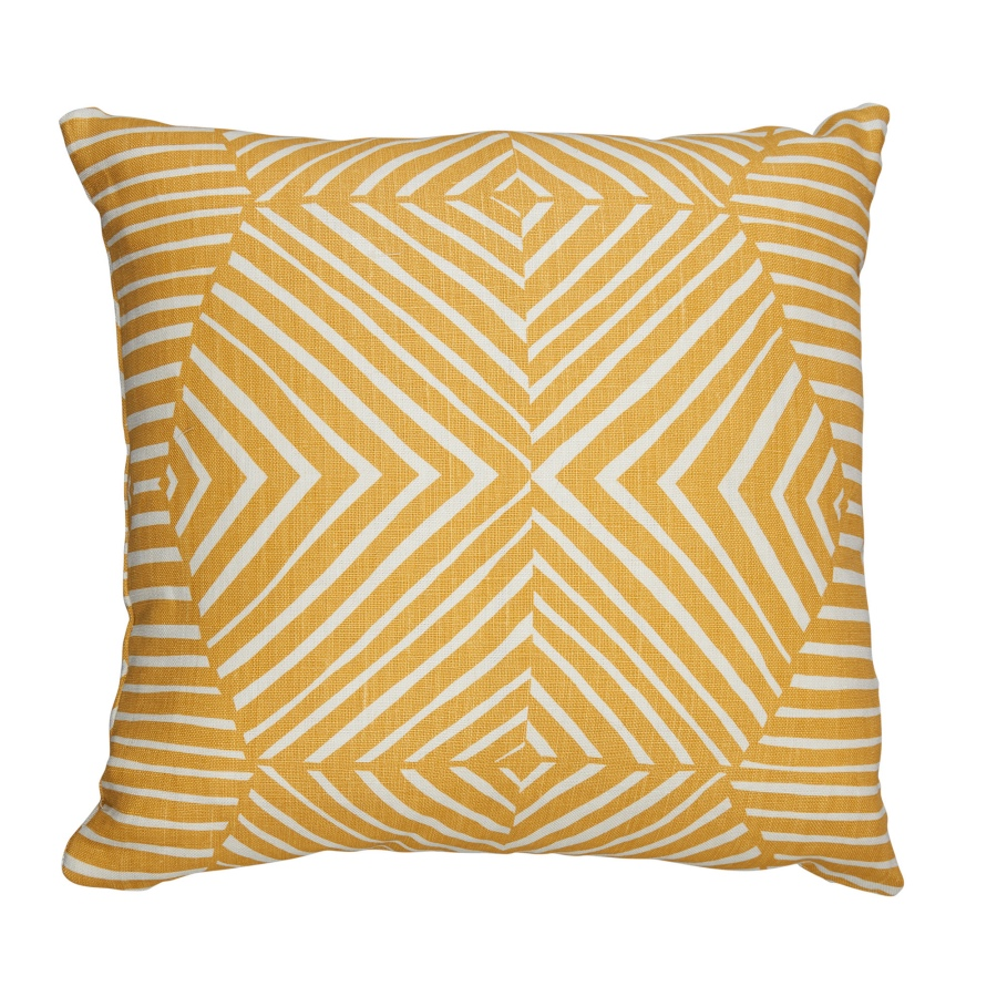 Mimi Pickard Bell Ochre cushion