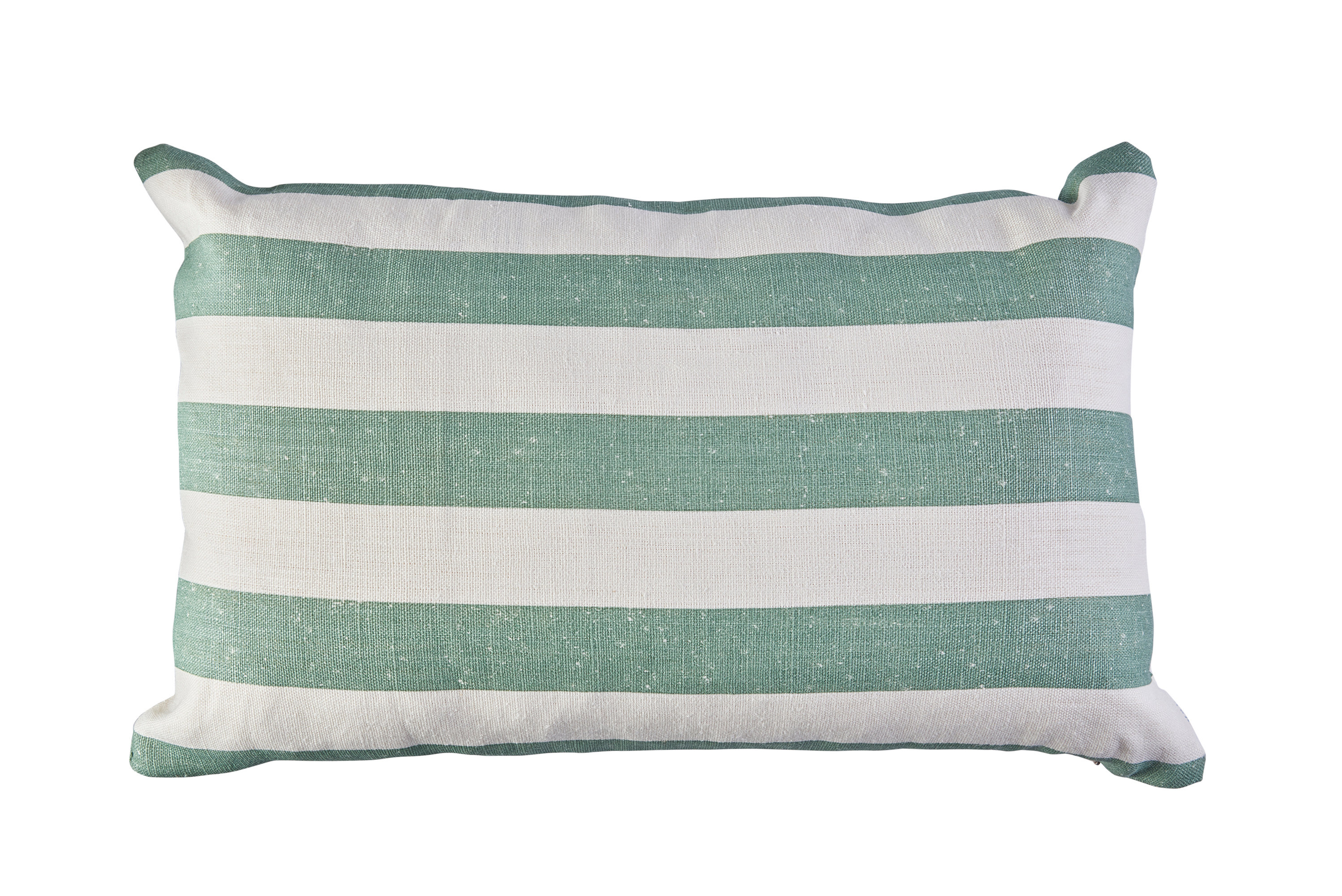 Mimi Pickard Charlie green stripe cushion